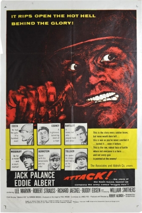 Attack (Original poster for the 1973 film, Style A). Robert Aldrich, Jack Palance Lee Marvin, Eddie Albert, director, starring.