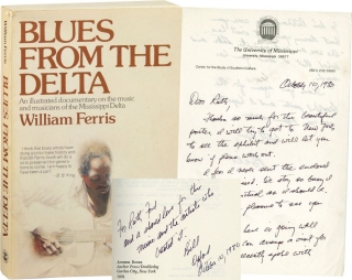 Blues from the Delta (Signed Softcover, with an ALS, actress Ruth Ford's copy). Ruth Ford, William Ferris.