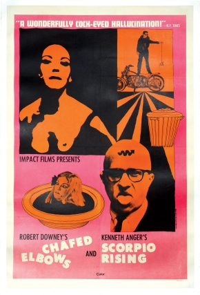 Chafed Elbows and Scorpio Rising (Original poster for the 1966 double-bill of the two films)....