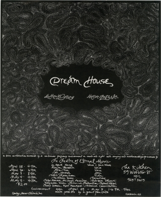 Dream House (Original poster for a 1974 performance, signed by Zazeela). La Monte Young, Marian...
