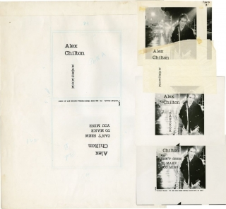 Bangkok b/w Can't Seem to Make You Mine (Original artwork, with single). Alex Chilton