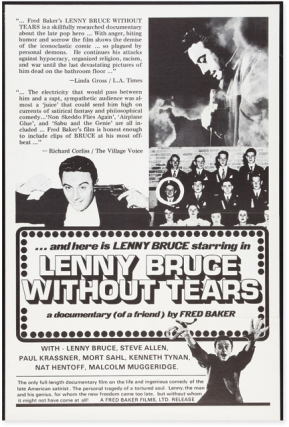 Lenny Bruce Without Tears (Original poster for the 1972 film). Lenny Bruce, Fred Baker, director