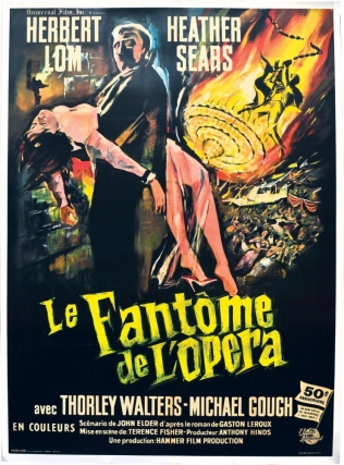 The Phantom of the Opera [Le Fantome de L'Opera] (Original French Film Poster). Terence Fisher,...