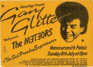 Camouflage Presents Gary Glitter with guests The Meteors (Original Music Poster). Gary Glitter
