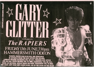 Camouflage Present Gary Glitter with guests The Rapiers (Original Music Poster). Gary Glitter,...