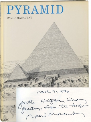 Pyramid (First Edition, Second Printing, signed by Macaulay). David Macaulay