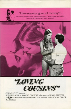 Loving Cousins [High School Girl] (Original Film Pressbook). Sergio Martino, Fernando Popoli, Riccardo Cucciolla Susan Player, Hugh Griffith, Alfredo Pea, screenwriter director, screenwriter, starring.