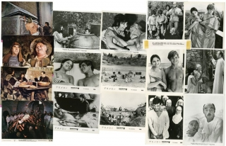 The Decameron (Set of 15 still photographs from the 1971 film). Pier Paolo Pasolini, Mario Tursi,...