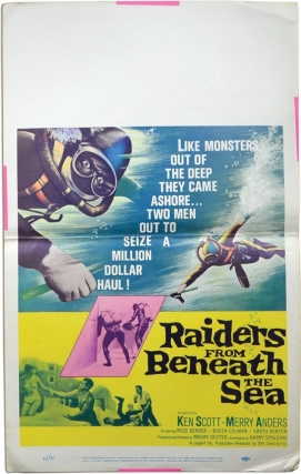 Raiders from Beneath the Sea (Original poster for the 1964 film). Maury Dexter, F. Paul Hall...