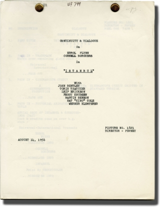Istanbul (Post-production script for the 1957 film). Joseph Pevney, Barbara Gray, Seton I....