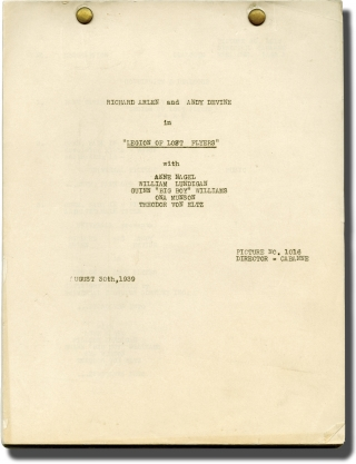 Legion of Lost Flyers (Post-production script for the 1939 film). Christy Cabanne, Ben Piver,...