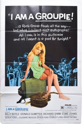 I Am a Groupie (Original poster for the 1970 film). Derek Ford, Suzanne Mercer, Richard Shaw...