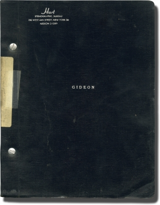 Gideon (Original script for the 1961 play). Paddy Chayefsky, Fredric March Douglas Campbell,...