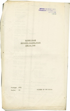 Rainbow Island (Post-production script for the 1944 film). Ralph Murphy, Seena Owen Walter...