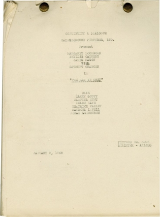 The Man in Grey (Post-production script for the 1943 film). Leslie Arliss, Lady Eleanor Smith,...