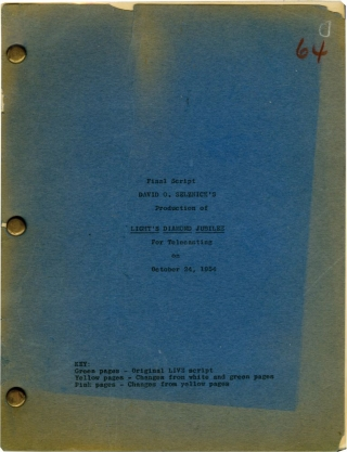 Light's Diamond Jubilee (Original screenplay for the 1954 television movie). Ben Hecht, King...