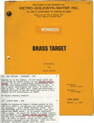 Brass Target (Original Screenplay for the 1978 film). John Hough, Frederick Nolan, Alvin Boretz,...
