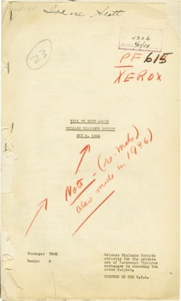 Till We Meet Again (Post-production script for the 1944 film). Frank Borzage, Lenore J. Coffee,...