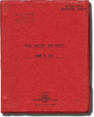 Wife, Doctor, and Nurse (Original screenplay for the 1937 film). Walter Lang, Kathryn Scola,...