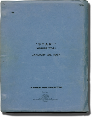 Star (Original screenplay for the 1968 film, signed by director Robert Wise). Robert Wise,...
