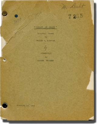 Inner Sanctum] Pillow of Death (Original screenplay for the 1945 film, Marion Pecht's copy)....