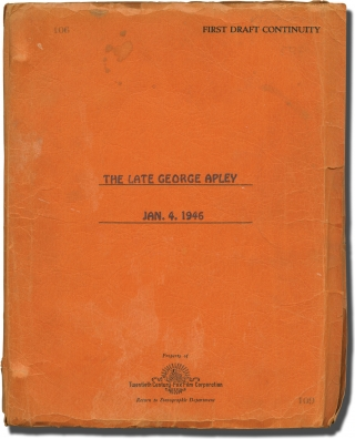 The Late George Apley (Original screenplay for the 1947 film, copy belonging to actress Peggy...