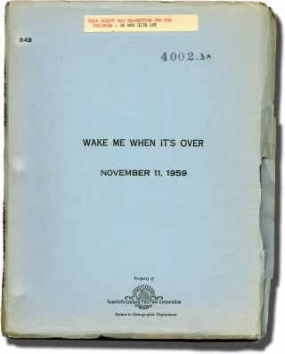 Wake Me When It's Over (Original screenplay for the 1960 film). Mervyn LeRoy, Richard L. Breen,...