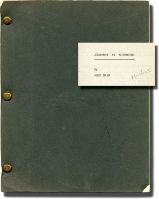 Judgment at Nuremburg (Original screenplay for the 1961 film). Stanley Kramer, Abby Mann, Burt...