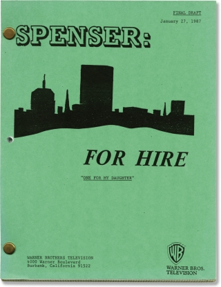 Spenser: For Hire: One for My Daughter (Original teleplay script for the 1987 television...