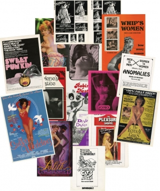 Archive of 74 pressbooks and ad supplements for hardcore adult films made between 1966-1987. Film Pressbooks.