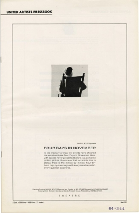 Four Days in November (Original Film Pressbook). Mel Stuart, Theodore Strauss, John Brewer...