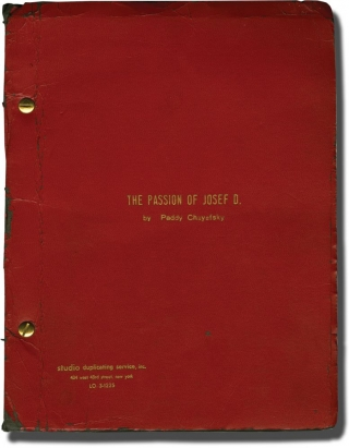 The Passion of Josef D. (Original script for the 1964 premiere of the play, inscribed to the...
