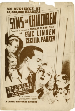 Sins of the Children [In His Steps] (Original Film Pressbook). Karl Brown, Charles Sheldon,...