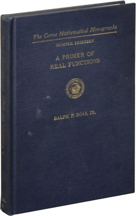 A Primer of Real Functions (Hardcover). Ralph P. Boas, Jr