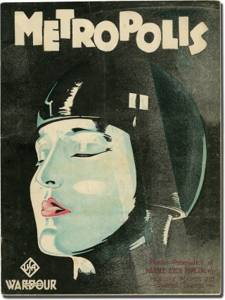 Metropolis (Original UK Program for the 1927 film). Fritz Lang, Thea von Harbou, director, novel...