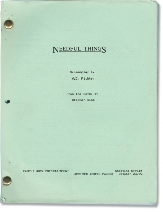 Needful Things (Original screenplay for the 1993 film). Stephen King, Fraser C. Heston, W D....