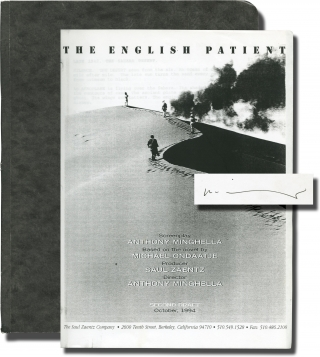 The English Patient (For Your Consideration screenplay for the 1996 film). Anthony Minghella,...