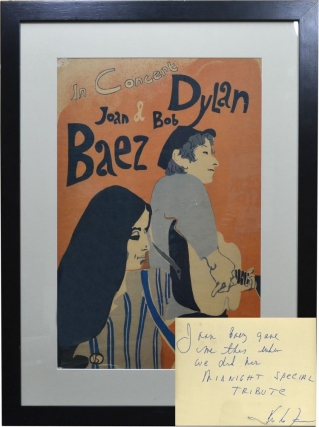 In Concert: Joan Baez and Bob Dylan (Original 1965 tour poster). Joan Baez, Bob Dylan, Eric Von...
