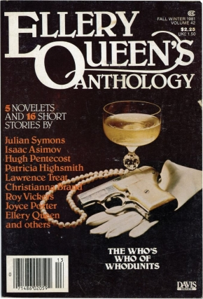 Ellery Queen's Anthology: Fall - Winter, 1981 (First Edition). Patricia Highsmith, Isaac Asimov...