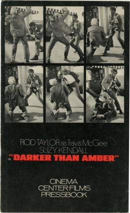 Darker Than Amber (Original Film Pressbook). John D. MacDonald, Robert Clouse, Rod Taylor Ed Waters, Suzy Kendall, Theodore Bikel, Jane Russell, director, screenwriter, starring.
