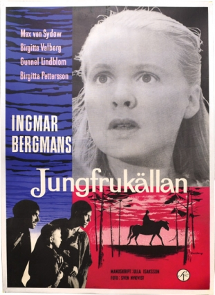 The Virgin Spring [Jungfrukallan] (Original poster for the 1960 film). Ingmar Bergman, Ulla...