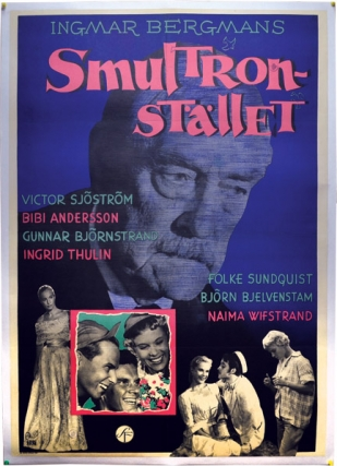 Wild Strawberries [Smultronstället] (Original poster for the 1957 film). Ingmar Bergman, director, Ingrid Thulin Bibi Andersson, starring.