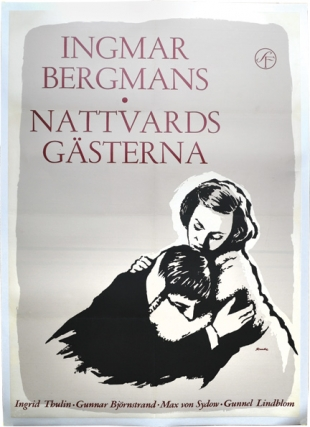 Winter Light [Nattvardsgasterna] (Original art style poster for the 1963 film). Ingmar Bergman,...