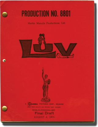 Luv (Original screenplay for the 1967 film). Clive Donner, Elliot Baker, Murray Schisgal, Martin...