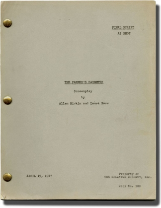 The Farmer's Daughter (Original screenplay for the 1947 film). H. C. Potter, Laura Kerr Allen...