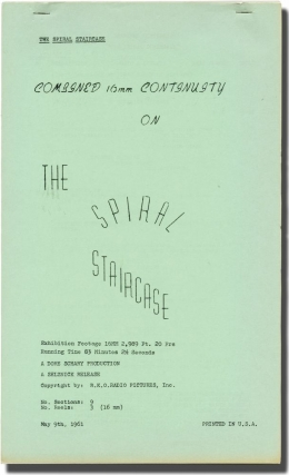 The Spiral Staircase (Post-production script for the 1961 re-release of the 1945 film). Ethel...