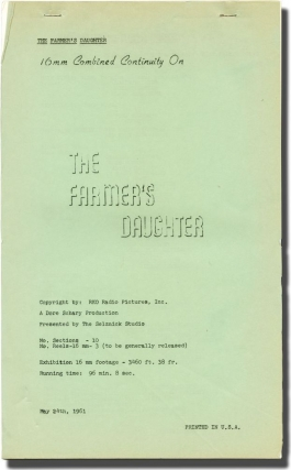 The Farmer's Daughter (Post-production script for the 1947 film). H. C. Potter, Laura Kerr Allen...