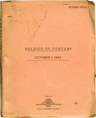 Soldier of Fortune (Original screenplay for the 1955 film). Edward Dmytryk, Ernest K. Gann, Susan...