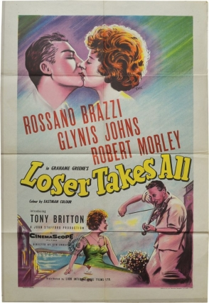 Loser Takes All (Original British poster for the 1956 film). Graham Greene, Ken Annakin, Rossano...
