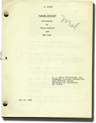 Apache Uprising (Original screenplay for the 1965 film). R. G. Springsteen, Max Lamb, Harry...
